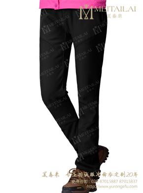 黑色抓绒裤